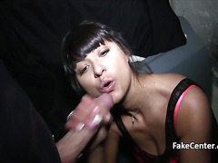 Hot milf got spunk on her ass
