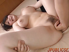 Rie screams with her pussy harsh fucked
