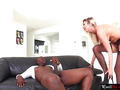 Interracial Anal Action With Stunning Blonde Hoe
