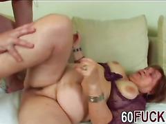 Brunette Granny Fucked Hard In Her Wet Cunt