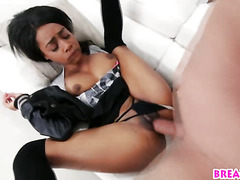 Teenage Bombshell Brittney White Gets Pussy Smashed By Huge White Dick