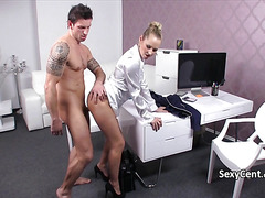 Hot agent fucking her client