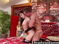 RealAsianExposed  Pretty Asian doll delivers the ultimate delight