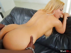 Stunning blonde babe fucked by Lex