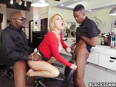 Krissy Lynn double penetrated by black cocks