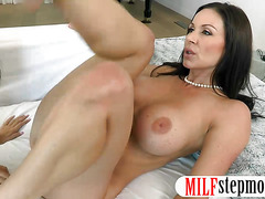 Busty stepmom Kendra Lust amazing threesome session