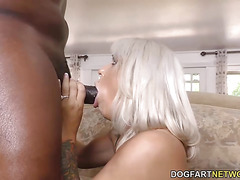 Busty Cougar Alyssa Lynn Hungry for Black Cock