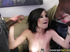 Veruca James gets DPd and gangbanged by BBCs