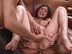 Ruri Haruka Asian milf desires cock in her wet fanny
