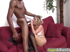 Blonde MILF Lexxi Lash sucks and rides BBC
