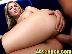 Top blonde, ass fucked and made to endure pain