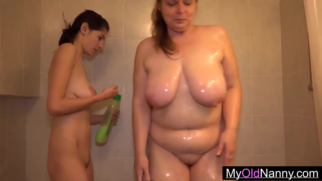Lesbian shower taking