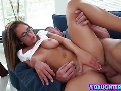 Sneaky Daughter Gets Her Pussy Smashed By Daddy's Friend