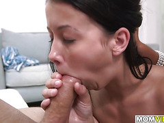 Stepmom Sofia Rivera in hot 3some with Alaina Kristar and BF