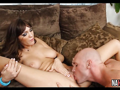 Perfect Tits Brunette Love Rough Couch Sex Holly Michaels