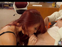 Office Fucking Hot Redhead Monique Alexander