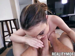 Cute and busty Dillion Harper smashed hard and rough at home