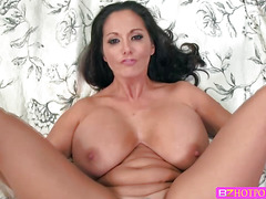 A hardcore real deal with Ava Addams and Keiran Lee fucking at the couch