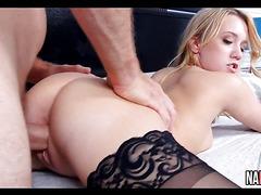 Hot Black Stocking Wearing Blonde Bailey Brooke