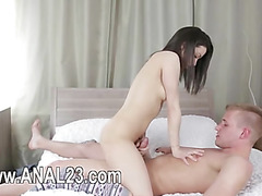 Anal coitus for the second time in front of the camera