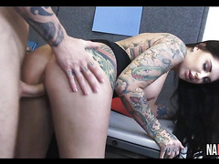 Perfect Big Tits Tattooed Office Fuck Darling Danika