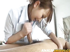 Anna sucks it hard and strokes it even harder