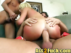 Anal Babe Threesome Blowjob Doggy Style Blonde