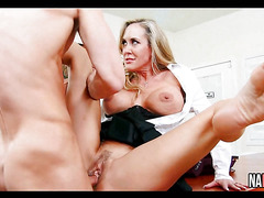 Big Tits Brunette MILF Lunch Break Fuck Brandi Love