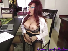 Busty Mature Redhead With Glasses