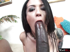 Bitch In Sexy Fishnets Worships Black Python And Gets Pierced Cunt Destroyed