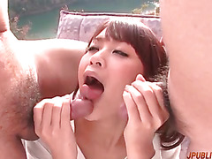 Premium group sex along top Asian woman Maika