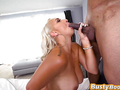 Naughty blonde milf picked up early in the morning by big cock dude
