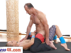 Horny fitness trainer George Uhl gives full treatment to Ivana Sugar and her sweet pink pussy