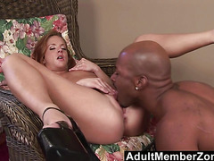 AdultMemberZone  Gabriella Banks Gets A Pussy Full Of Black Cock