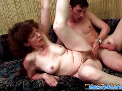 Mature Eva Gets Her Hairy Pussy Fucked