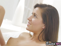 Newbie brunette cries when big cock entered her tiny pussy