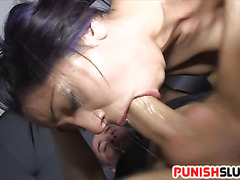 Slut Julia de Lucia anal fucked after being restricted