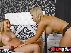 Hot blondes Alyssa Cole and Savana Styles sharing a big cock