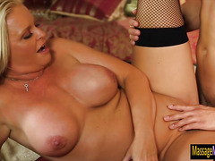 Busty milf Maya Devine fucked by client after giving massage