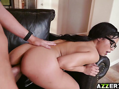 Nerd Maya Bijou bangs with roommates boyfriend
