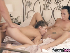 Sexy Teen Gina Gerson Fucks In Threesome With Hot Brunette Mom