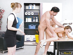 Big juggs Natasha Nice banged by big hard cock in the office