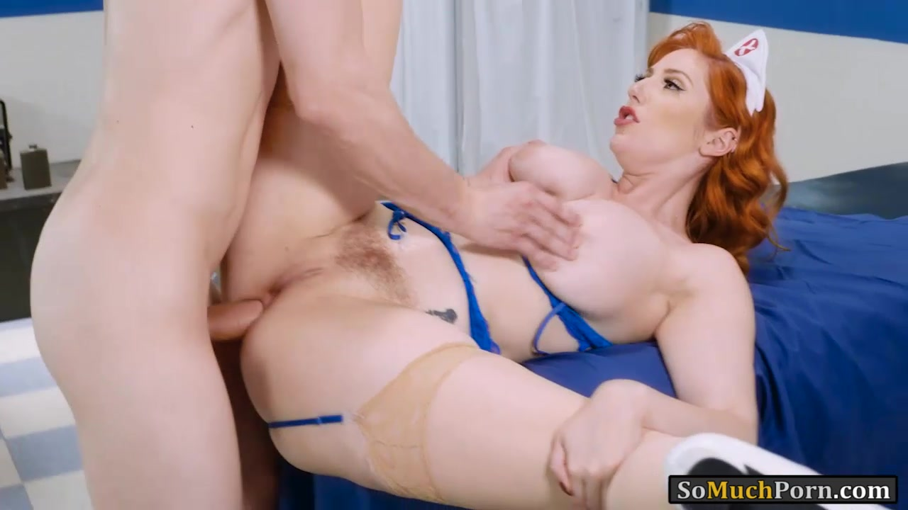 Big Juggs Redhead Nurse Asshole Nailed On Patients Bed-5920