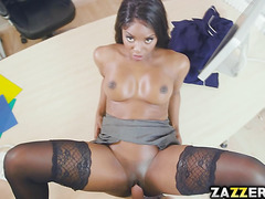 Jasmine's big boobs just want to wrap themselves around a hard cock