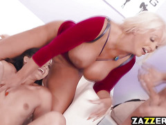 Dylan Snow fucks Avi Love from behind doggystyle