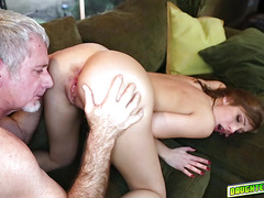 Coach Daddy romping Molly Mansons pussy so hard