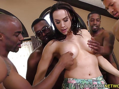 Interracial Gangbang and DP with Chanel Preston