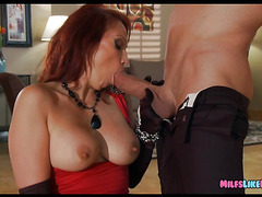 Wealthy Redhead wants the drivers dick