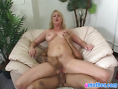 Hot blonde milf gets asshole stretched by cock