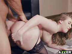 Sexy Harley Jade  takes a giant dick in her ass